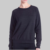 Ladies' Raglan Pullover Long Sleeve Crewneck Sweatshirt