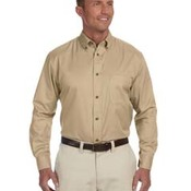 Men's Tall Easy Blend™ Long-Sleeve Twill Shirt with Stain-Release