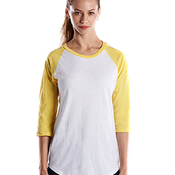 Ladies' 4.3 oz., 3/4-Sleeve Baseball Raglan