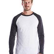 Men's 4.3 oz. Long-Sleeve Triblend Baseball Raglan