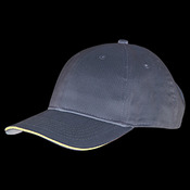 100% Washed Cotton Unstructured Sandwich Cap