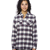 Ladies' Plaid Boyfriend Flannel Shirt