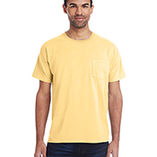 Unisex 5.5 oz., 100% Ringspun Cotton Garment-Dyed T-Shirt with Pocket
