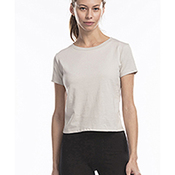 Ladies' Short Sleeve Crop T-Shirt